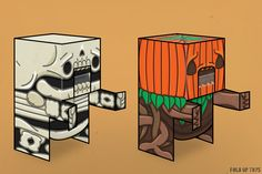 Fold Up Toys releasing four free monster paper toys for Halloween this year.