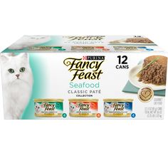 Purina Fancy Feast Classic Seafood Feast Collection Cat Food - (2) 36 oz. Box