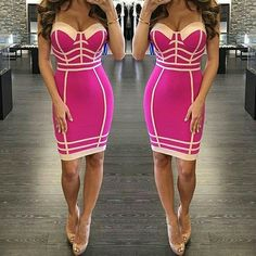 "Get our ""Pinky Maiden ""bandage dress ,Also available in orange ,black and blue  Link to purchase: https://www.amekana.com/pinky-maiden-bandage-dress  #amekana #fashionaddict #fashion #shopping  #boutique #shopping  #robkardashian #fashion #bodycondress #blackdress #littleblackdress  #fashion #shopping #top #amekana #fashion #shopaholic #amekana #clearance #discount"