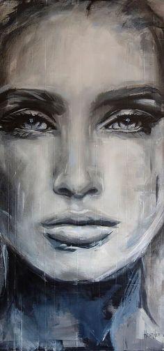 ideas painting face abstract canvases for 2019 L'art Du Portrait, Portraits, Art Visage, Face Art, Painting Techniques, Painting & Drawing, Abstract Portrait Painting, Watercolor Art, Art Aquarelle