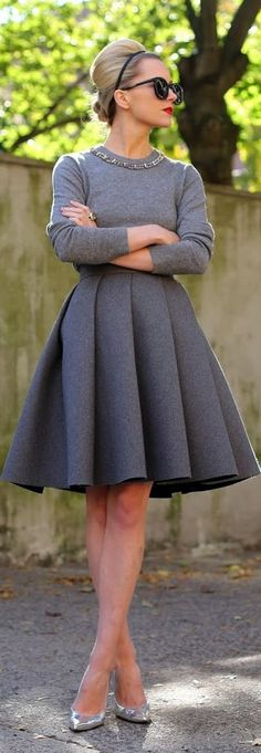 Skirt Outfits For Winter Street Style Chic Ideas Look Fashion, Autumn Fashion, Womens Fashion, Fashion Trends, Modern 50s Fashion, Fashion News, Fashion Check, Lolita Fashion, Fashion Styles