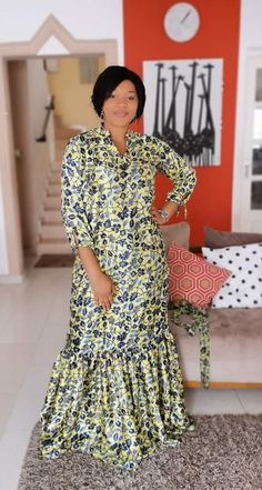 Ankara Long Gown Styles, African Print Dresses, African Dresses For Women, African Attire, African Fashion Ankara, Latest African Fashion Dresses, African Print Fashion, African Print Dress Designs, African Traditional Dresses