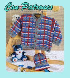 Mis Pasatiempos Amo el Crochet: Batita y gorra de niño de ganchillo