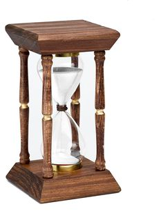 The origin of the hourglass is uncertain. It is believed that the Roman armies used them during the night; It was also said that they were invented by a French monk at the end of the 8th century. At t