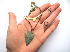 Green arrowhead necklace Arrowhead Pendant by HomeGrownIllinois, $14.00