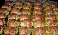 ... vagy ha pontosak akarunk lenni: baconbe csavart húspogácsák. Nagyszerű étel akár körettel, akár salátával!