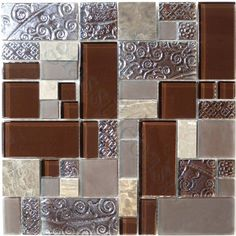 "Sheet size: 11 5/8"" x 11 5/8"" Tile Size: Unique Shapes Tiles per sheet: 31 Tile thickness: 1/4"" Grout Joints: 1/8"" Sheet Mount: Mesh Backed Sold by the sheet"