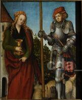Hl. Georg und hl. Barbara um 1513 - 1518 Werkstatt Lucas Cranach der Ältere Kunstsammlungen der Veste Coburg, Coburg CRANACH DIGITAL ARCHIVE