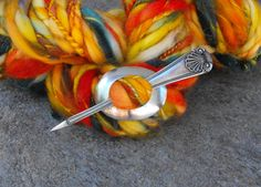 Shawl Pins Seashell Spoon Shawl Pin Spoon by JGarloffDesign
