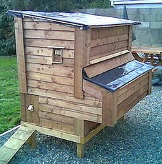 Raising chickens in your backyard in a build your own chicken coop is the best way to get fresh organic eggs. Many people that are looking to raise chickens search for a small or medium sized chicken coop design to Chicken Coop Plans Free, Chicken Coop Pallets, Chicken Coop Designs, Chicken Tractors, Building A Chicken Coop, Chicken Coops, Chicken Garden, City Chicken, Chicken Pen