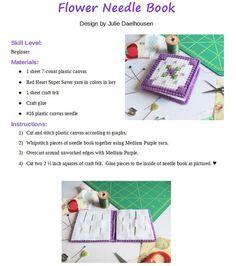 Glue Crafts, Plastic Canvas Crafts, Plastic Canvas Patterns, Yarn Crafts, Blackwork Cross Stitch, Cross Stitching, Needle Book, Needle Case, Art Storage