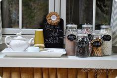 Hot chocolate bar presentation