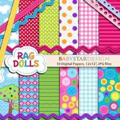 kit para scrapbook digital lalaloopsy - papéis