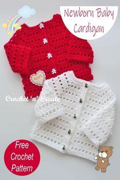 Crochet Baby Cardigan Free Pattern, Crochet Baby Sweaters, Newborn Crochet Patterns, Baby Sweater Patterns, Cardigan Pattern, Free Crochet, Crochet Baby Boys, Crochet Baby Clothes Boy, Baby Boy Knitting Patterns