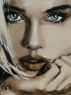 Jun 24, 2019 - This Pin was discovered by Mary. Discover (and save!) your own Pins on Pinterest Potrait Painting, Portrait Art, Painting & Drawing, Arte Obscura, Face Art, Painting Inspiration, Art Girl, Amazing Art, Watercolor Art
