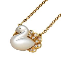 A Mother-of-Pearl and Diamond Necklace, Van Cleef & Arpels: