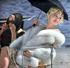 Marilyn Monroe and Paula Strasburg on the set of Some Like It Hot, 1959.