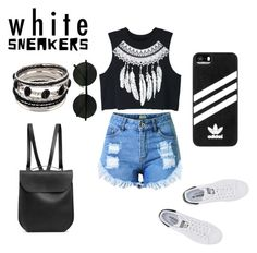 """""""Chill Chic"""" by mellyruthy ❤ liked on Polyvore featuring adidas Originals, Topshop, WithChic, GRETCHEN and adidas"""