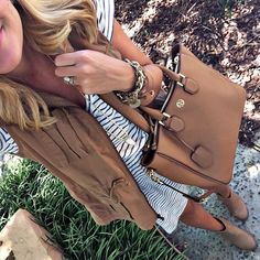 shopdandy:  Loving stripes and cognac so much lately! It's the...