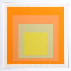 "Josef Albers ""Interaction of Color: Homage to the Square"" Screen Print on Chairish.com"
