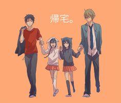 Durarara!!   Orihara Izaya   Orihara siblings   Heiwajima Shizuo