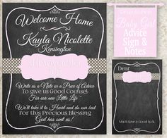 Baby Advice Sign & Notes Baby Shower Decor Activity by PAINTandPEN $25 for Printable - premium card stock prints available