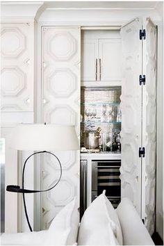 Wet Bar - behind great Doors for living room