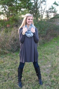 We are obsessing over this color... too cute! You will love this brand... trust us! Piko Tops!  http://www.sidelinesass.com/collections/piko-collection/products/piko-tunic-grey