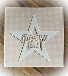 "Kulricke Dies and Clearstamps: Sterne Karte ""Glück ist Jetzt""!"
