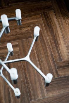 Treverk Chic by Marazzi #herringbone #wood inspired #floor #tile