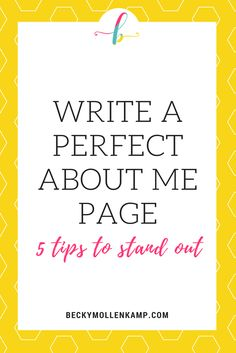 GUEST POST from Melanie Kernodle In a seemingly overcrowded online space, it can feel hard to stand out. Business Website, Business Tips, Online Business, Business Writing, Business Opportunities, Web 2.0, About Me Page, Pinterest For Business, Marketing Digital