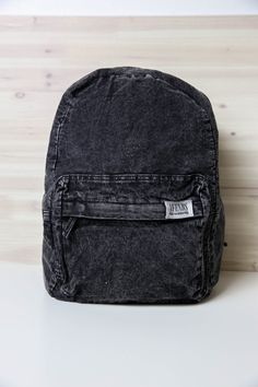 Afends - Nevermind Denim Backpack - Black Acid Wash from Peppermayo.com