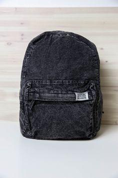 Afends - Nevermind Denim Backpack - Black Acid Wash from Peppermayo.com