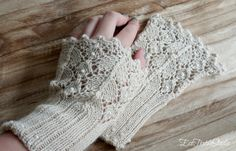 Soft and elegant wrist warmers hand knit of luxery yarns /
