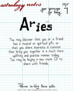 Aries Astrology Note: Hey Aries, follow us for horoscopes every day!