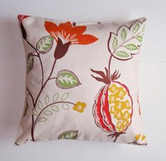 Throw Pillow Cover Lg Bold Floral Pillow Cover by PersnicketyHome