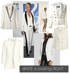 Why not try a white jacket?  #white #sharonstone