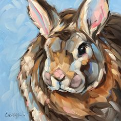A personal favorite from my Etsy shop https://www.etsy.com/listing/468366659/bunny-painting-6x6-inch-original