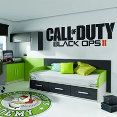 "Call of Duty Black Ops 2 II Sticker Decal Xbox One 360 Ps4 Ps3, Wii, Psp, Video Game Choose Size * Color (9"" x 32"" Big, Black) Stickers Like http://www.amazon.com/dp/B00UZH7W40/ref=cm_sw_r_pi_dp_tg79vb0X7M66Y"