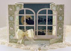 Gatefold Christmas Card from Becca Feeken - http://www.amazingpapergrace.com/gatefold-christmas-card/