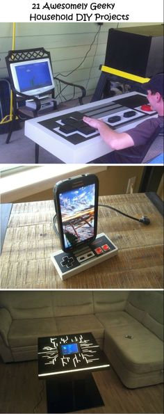 21 Awesomely Geeky Household DIY Projects