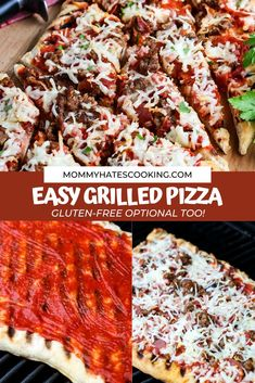 Learn to make this easy grilled pizza that can be done gluten-free or regular, topped with your favorite toppings! It's a great dinner that tastes like it came out of a wood-fire oven!