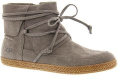 The perfect fall and winter boot! UGG® Reid (Women's) suede with tie detail available in three colors #boots #ugg #ad #suedeboot