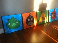 Neon Southern Lady: Angry Birds Room