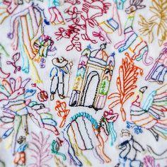 Ognanet Oinimac ↩️ #bordadostenangos #estudioGimenaRomero #caminoatenango #thuleediciones #álbumliterario #ilustraciontextil #ilustracióntextil #bordado #embroidery #broderie