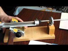Заточка ножа на приспособлении 5 - YouTube