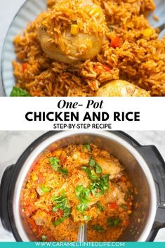 Instant Pot Chicken And Rice Recipe, Chicken And Rice Dishes, Quick Chicken Recipes, Best Instant Pot Recipe, Chicken Rice, Healthy Rice Recipes, Lunch Recipes, One Pot Rice Meals, Indian Appetizers