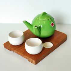 Teagether set - Tea for two, modern handmade teapot with two spouts