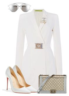 A fashion look from August 2017 featuring white jacket, white pumps and chanel brooch. Browse and shop related looks. Kpop Fashion Outfits, Stage Outfits, Mode Outfits, Fashion Dresses, Modest Fashion, Cute Casual Outfits, Pretty Outfits, Stylish Outfits, Look Fashion