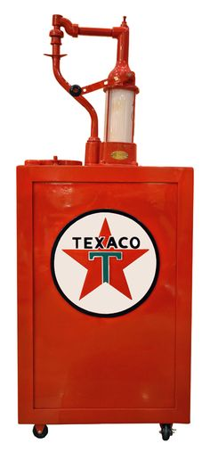 Vintage Texaco Oil Pump, Restored Repainted.